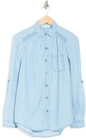 Thumbnail for your product : BeachLunchLounge Avery Pocket Button Front Chambray Tunic Shirt
