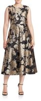 Marina Rinaldi, Plus Size Donata Floral Jacquard A-Line Dress