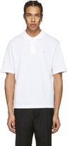 Acne Studios White Falco Face Polo