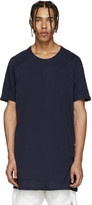 11 By Boris Bidjan Saberi Navy Logo Long T-Shirt