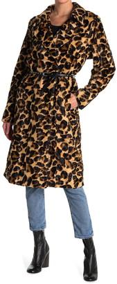 Scotch & Soda Faux Fur Trench Coat