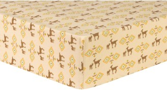Trend Lab Deer Tribal Deluxe Flannel Fitted Crib Sheet