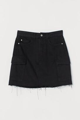 H&M Denim cargo skirt