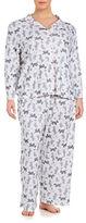 Karen Neuburger Plus Patterned 2-Piece Pajama Set
