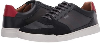 HUGO BOSS Cosmopool Low Top Mixed Material Sneaker by BOSS (Dark Blue) Men's Shoes