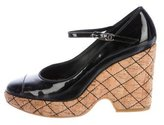 Chanel Patent Leather CC Wedges