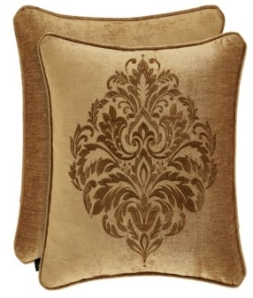 """J Queen New York J Queen Sicily Gold 20"""" Embellished Square Bedding"""