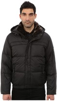 Andrew Marc Fauxmula Down Filled Bomber w/ Faux Fur Trimmed Collar and Removable Hood