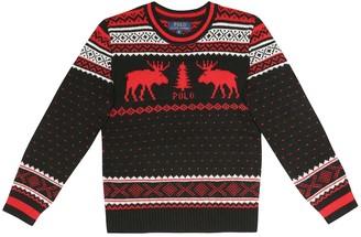 Polo Ralph Lauren Kids Intarsia wool-blend sweater