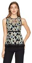 Nanette Lepore Women's Midsummer Lace Sleeveless Embroidered Top