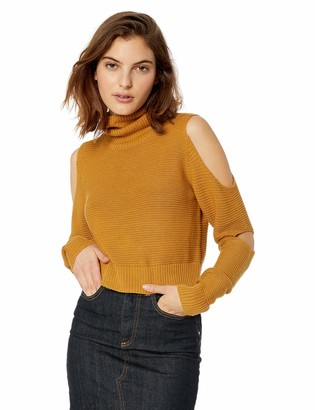 BCBGeneration Women's Turtleneck Crop TOP