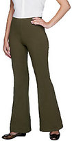 Women with Control Petite Flare Leg Pants with Flat Front Waistband