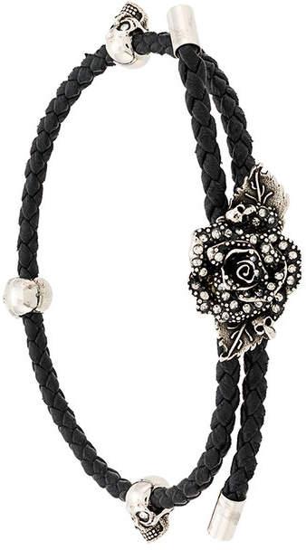 Alexander McQueen skull and rose bracelet