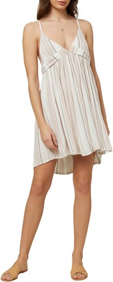 O'Neill Saltwater Solids Stripe Cover-Up Tank Dress