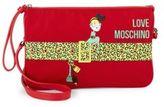 Love Moschino Belt & Girl Twill Wristlet