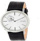 Simplify Unisex Black Strap Watch-Sim3101