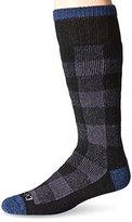 Dickies Men's 1 Pack Steel Toe Wool Buffalo Plaid Boot Crew Socks