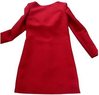Valentino Garavani Red Wool Dress for Women