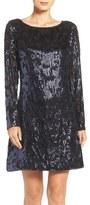 Vince Camuto Sequin A-Line Dress (Regular & Petite)