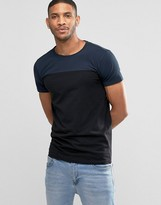 Lindbergh T-Shirt With Color Block In Navy