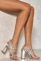 Nasty Gal nastygal Pixie Metallic Block Heel