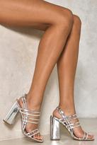 Nasty Gal Pixie Metallic Block Heel