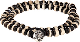 Luis Morais Bi-colour bead and white-gold bracelet