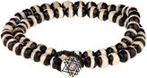 Luis Morais Bi-colour bead and white-gold bracelet