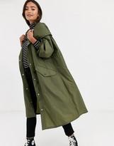 Asos Design DESIGN lightweight hooded jacket in khaki