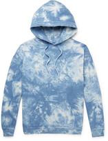 Beams Distressed Tie-Dyed Loopback Cotton-Jersey Hoodie