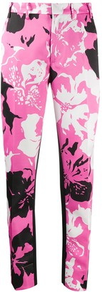 No.21 Floral Slim Trousers