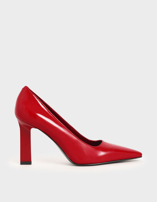 Charles & Keith Patent Blade Heel Pumps