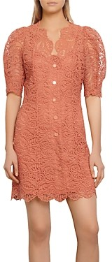 Sandro Livan Short Lace Dress