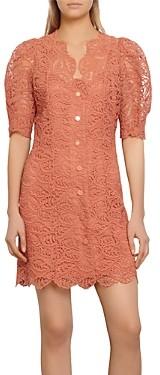 Sandro Livan Short Lace Dress