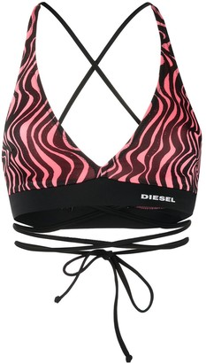 Diesel Wavy Stripe Bikini Top