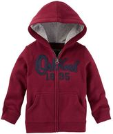 Osh Kosh Boys 4-8 Fleece Logo Applique Zip-Up Hoodie