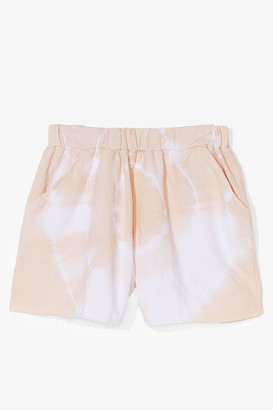 Nasty Gal Womens Peace and Love Tie Dye High-Waisted Shorts - Cream