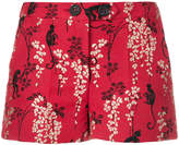 RED Valentino monkey and floral embroidered shorts