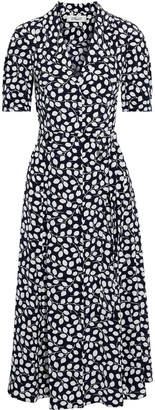 Diane von Furstenberg Lily Printed Silk Crepe De Chine Midi Dress