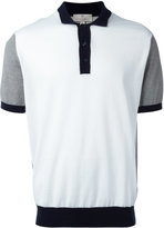 Canali contrast polo shirt