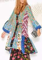 Figue Caroline Kimono Dress In Mixed Print
