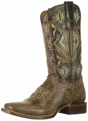 Roper Women's Out West Western Boot Brown 7 D US