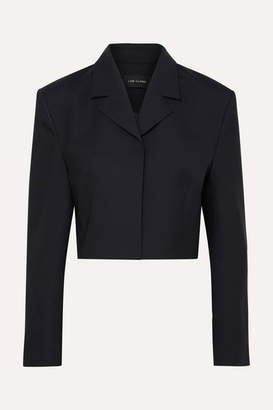 Low Classic Cropped Wool-blend Blazer - Navy
