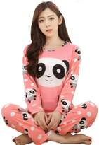 E-TDPAC Women Long Sleeves Cute Panda Pajamas Set Sleepwear for teen girls