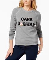 Bow & Drape Carbdashian Sequined Graphic Sweatshirt
