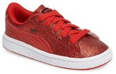 Puma Toddler Girl's Basket Holiday Glitz Sneaker