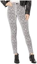 Hudson Jeans Barbara High-Rise Super Skinny in Metallic Python (Metallic Python) Women's Jeans