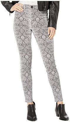 Hudson Barbara High-Rise Super Skinny in Metallic Python (Metallic Python) Women's Jeans