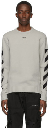 Off-White Grey Diag Sweater