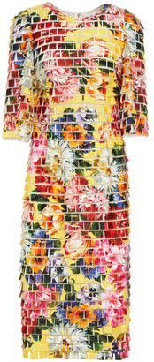 Dolce & Gabbana Floral-print Appliqued Tulle Midi Dress